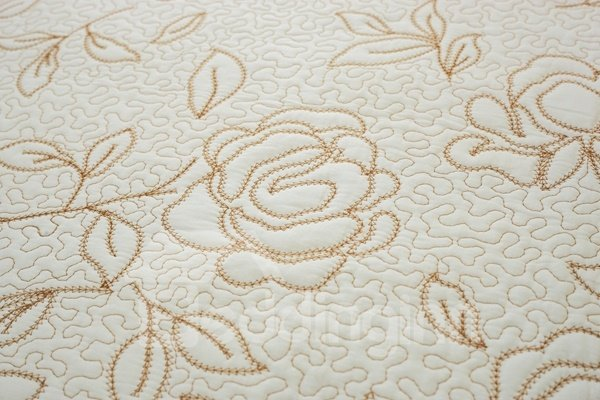 Stunning White Embroidery Roses Pattern Washable Slip Resistant Four Seasons Sofa Covers