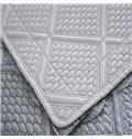 Grey Polyester Fiber European Style Lace Edge Four Seasons Slip Resistant Sofa Covers