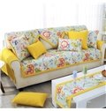 Slip-proof Square/Rectangle Polyester and Cotton Floral Print Sofa Covers