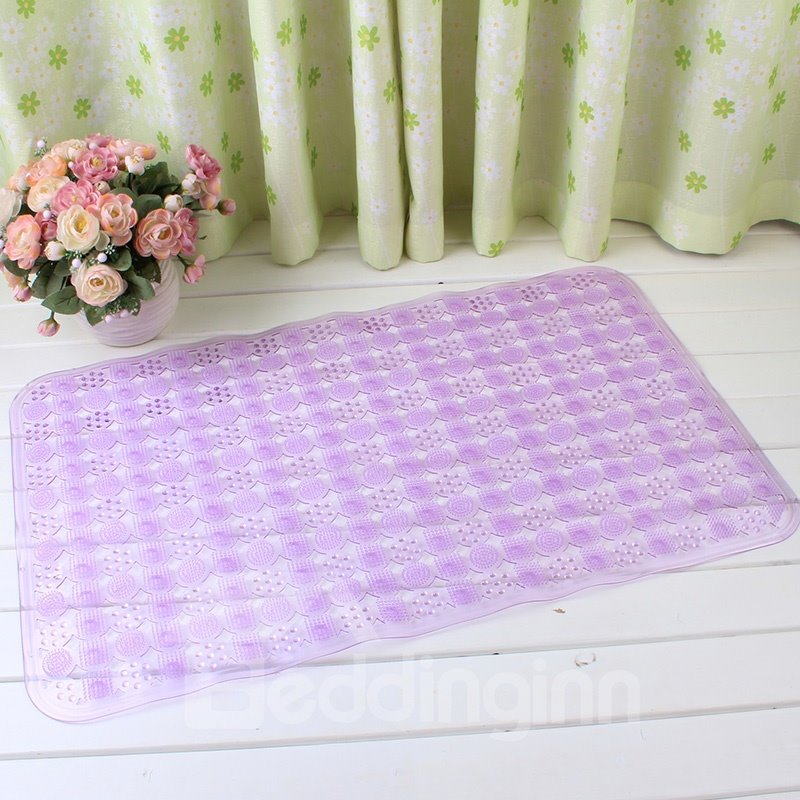 Purple Non-Slip Anti-Bacterial Translucent Massage PVC Bath and Shower Mat