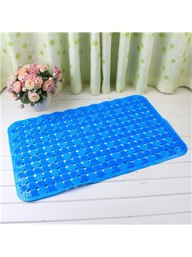 Blue Non-Slip Anti-Bacterial Massage PVC Bath and Shower Mat
