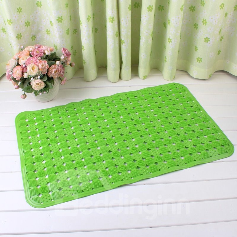 Green Non-Slip Anti-Bacterial Massage PVC Bath and Shower Mat
