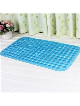 Blue Non-Slip Anti-Bacterial PVC Bath and Shower Mat