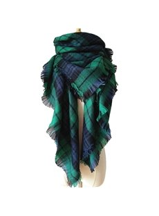 Pretty Hot Popular Main Bright Deep Green Warm Cashmere Square Scarves