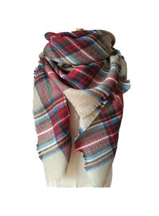 Contrast Colorful Fall And Winter Women Lady Popular Square Scarves