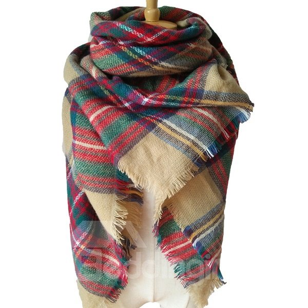 Colors Mixing Winter Autumn Necessary Warm Cashmere Square Scarves