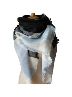 Hot Women Lady Winter Autumn Warm Contrast Color Design Square Scarves