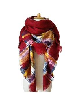 Fresh Bright Contrast Color Style Design Cashmere Long Scarves