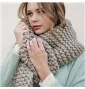 Warm Wool Material High Cost-Effective Solid Long Scarves
