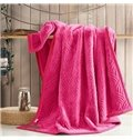 Solid Color Flannel Fleece Blanket Embossing Blanket