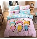 Three Cute Girls Pattern Kids Cotton 4-Piece Duvet Cover Sets