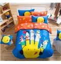 City Elf Pattern Kids Cotton 4-Piece Duvet Cover Sets