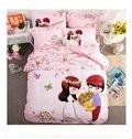Sweet Couple Pattern Kids Cotton 4-Piece Duvet Cover Sets