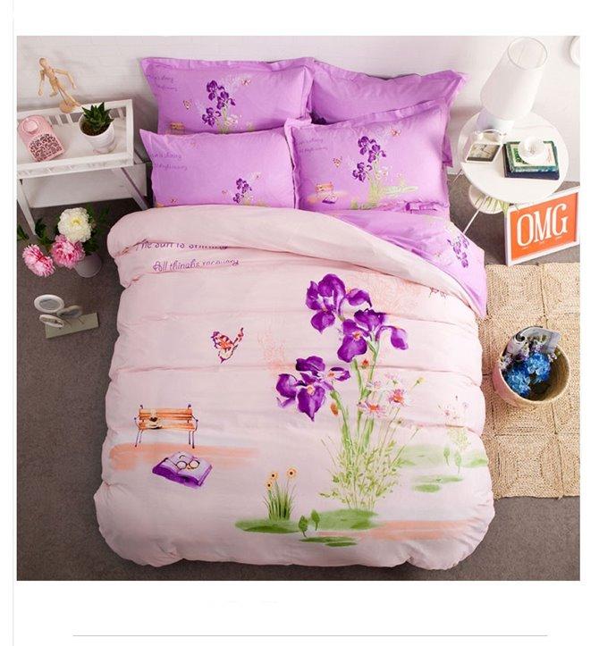 LoveContract Pattern Kids Cotton 4-Piece Duvet Cover Sets
