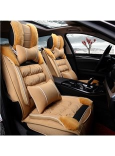 Pretty Comfortable And Warm Fashion Design Plush Down Material Winter Universal Car Seat Cover
