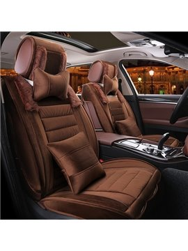 Classic Luxurious Solid Super High Cost-Effective Plush Material Warm Universal Car Seat Cover