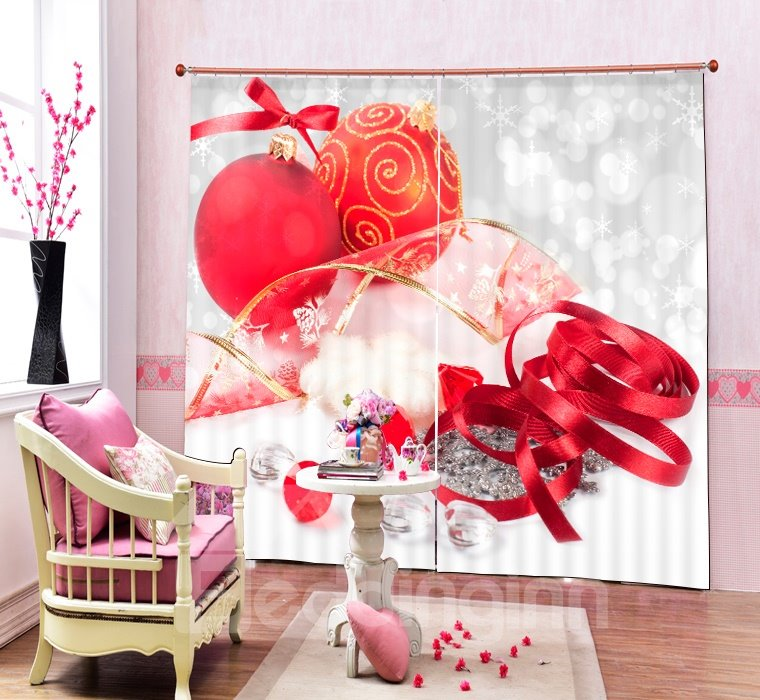 Christmas Decors Printing Merry Christmas 3d Curtain Pic