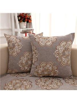 European Style Gray Flower Pattern Home Decorative Sofa Throw Pillow