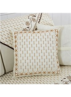 White Warm Unique Pattern Design with Invisible Zipper Sofa Throw Pillow