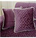 Soft Square Quilting Seam Plaid Pattern Decorative Sofa Throw Pillow