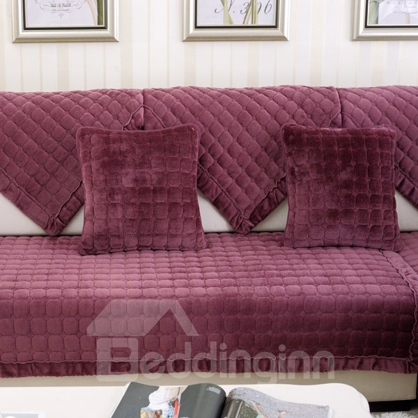 Creative Square Flannel 5 Colors Sofa Decorative Throw Pillow