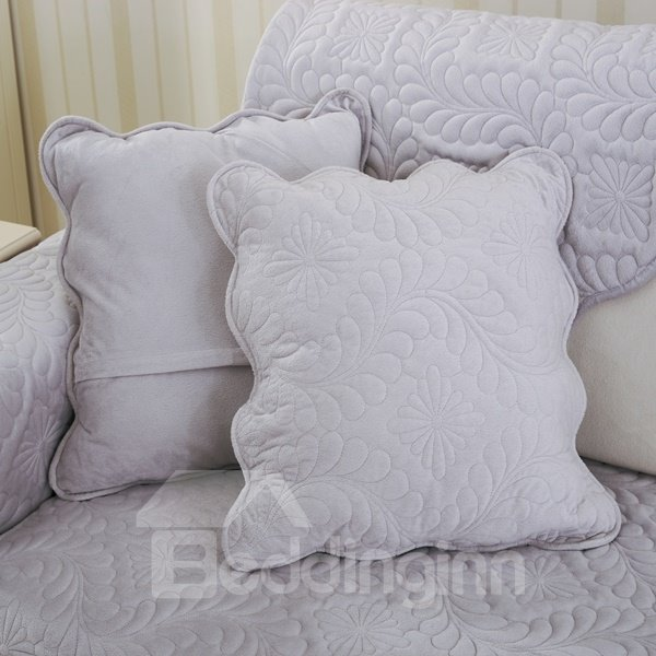 White Phoenix-tail Print Home Decorative with Invisible Zipper Sofa Throw Pillow