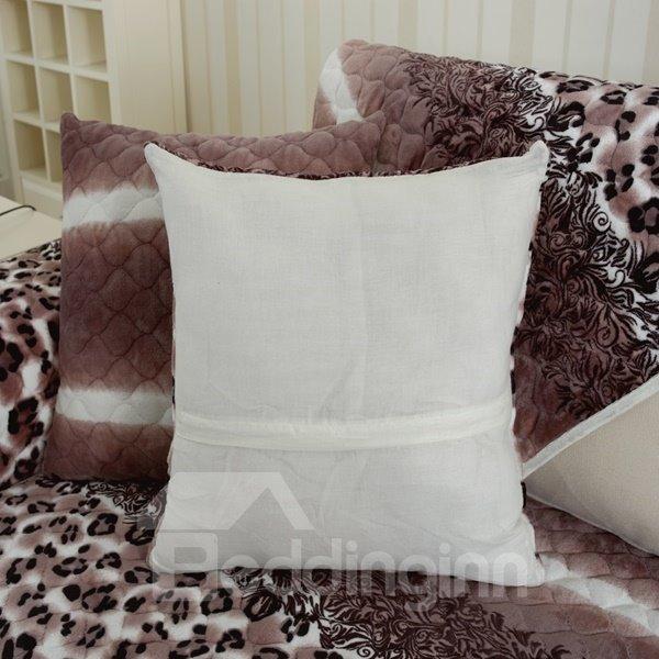 Unique Design Square Leopard Print with Invisible Zipper Decorative Sofa Throw Pillow