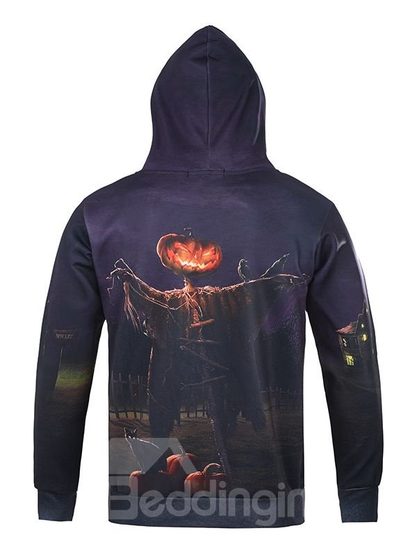 Halloween Style Long Sleeve Creative Pattern 3D Painted Hoodie