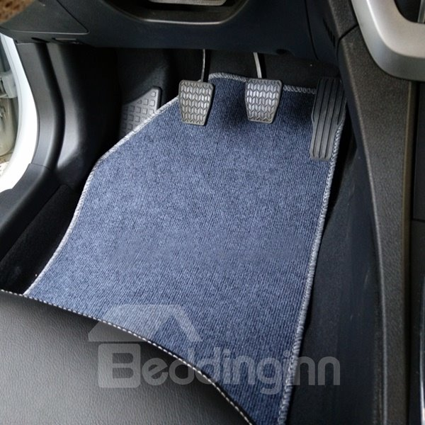Solid Color Simple Design Popular Cost-Effective 5-Pieces Universal Car Carpet