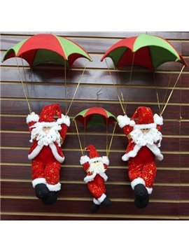 European Style Red Santa Clause with Parachute Christmas Decoration 3D Wall Decors