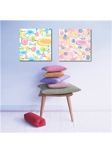 Amusing Colorful Bulbs Pattern Home Decorative Framed Wall Art Prints