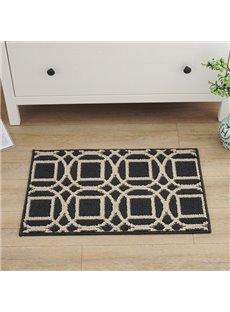 Wonderful Polypropylene Fiber Rectangle Irregular Pattern Slip Resistant Doormat