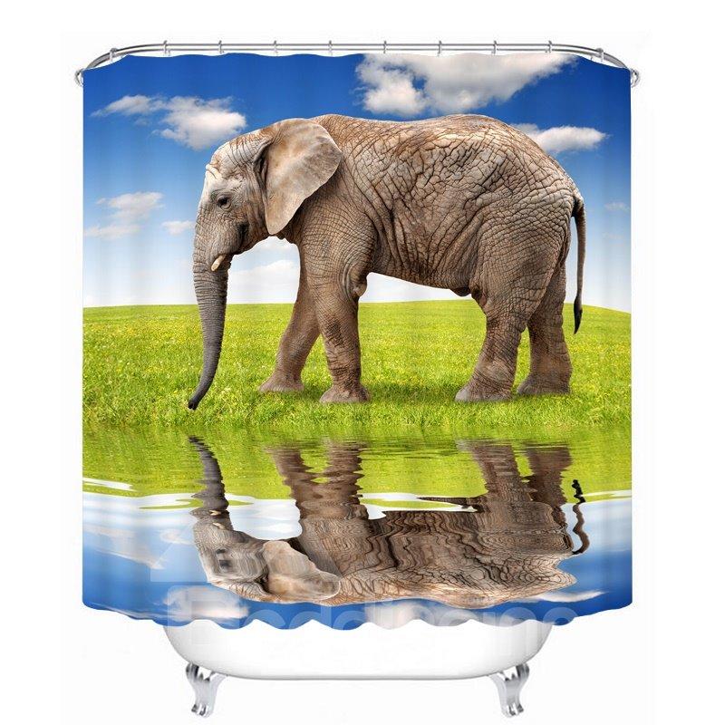 Vivid Elegant Printing Bathroom Decor 3D Shower Curtain