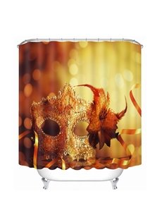 Gorgeous Mask for Masquerade Printing Bathroom 3D Shower Curtain