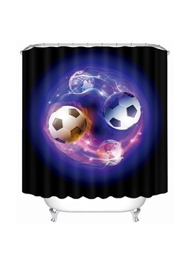 Two Magic Footballs Printing Bathroom 3D Shower Curtain