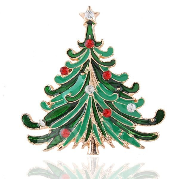 Charming Christmas Style Christmas Tree Design Brooch