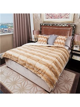 Ultra Soft and Comfortable Plush Stripe Quilt