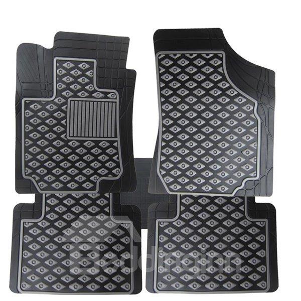 Fashional Diamond-Shaped Pattern Free Cutting Durable Rubber Universal Car Carpet