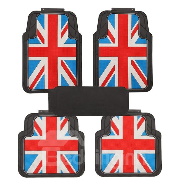 Dust-proof And Anti-Dirt Union Jack Style Can Be Free Cutting Fashion Universal Car Carpet