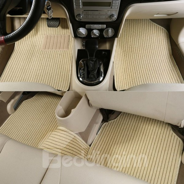 Good Permeability Waterproof Wear-Resistant Flax Material Universal Car Carpet