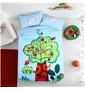 Cartoon Birds Family Pattern Kids Polyester 4-Piece Duvet Cover Sets