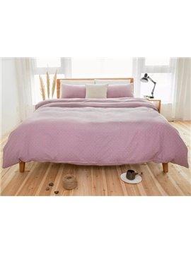 Concise Trellis Design 4-Piece Cotton Duvet Cover Sets