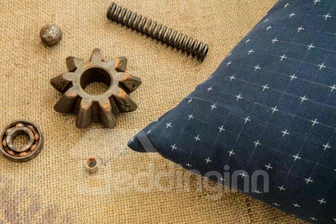 Elegant Solid Blue Cotton 4-Piece Duvet Cover Sets