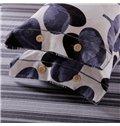 Elegant Gingko Leaves Print 4-Piece Cotton Duvet Cover Sets