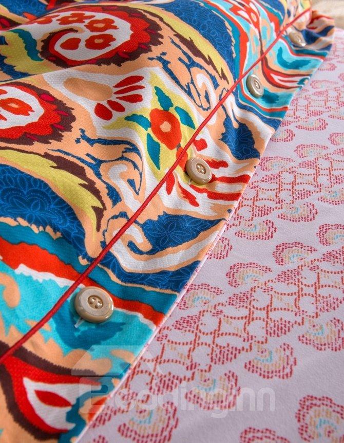 Exotic Style Colorful 4-Piece Cotton Duvet Cover Sets