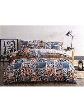 Retro Style Leopard Print 4-Piece Cotton Duvet Cover Sets