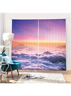 The Scenery over The Cloud Printing 3D Curtain