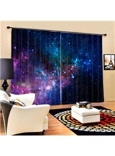 Gorgeous Galaxy Printing 3D Curtain