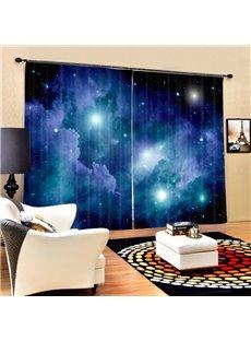 Brilliant Night Sky Printing 3D Galaxy Curtain