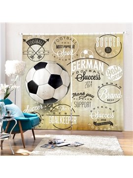 Inspiring Soccer Printing Polyester 3D Curtain